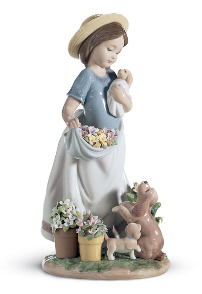 Lladro A Romp in The Garden Girl Figurine Type 626 - Dalmazio Design