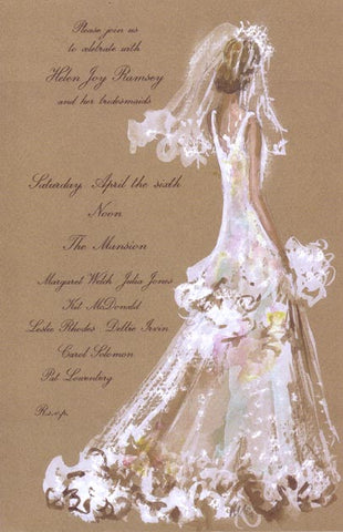 Bridal Lace Personalized Bridal Invitations (Set of 50)