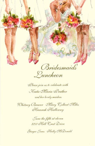 All The Ladies Personalized Bridal Invitations (Set of 50)