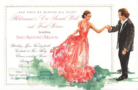 Waltz Personalized Bridal Invitations (Set of 50)
