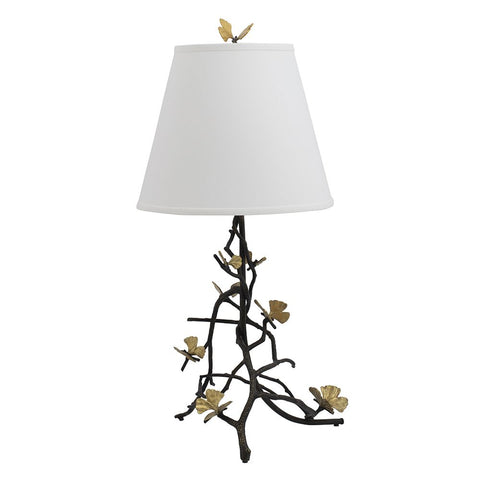 Butterfly Ginkgo Sculptural Table Lamp