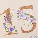 Floral Golden 15 Quinceañera Photo Album