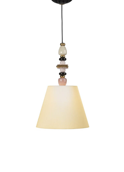 Lladro Firefly Ceiling Lamp. Pink and Golden Luster. (US) Dalmazio Design