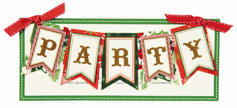 Christmas Twinkle Party Banner Die-Cut Personalized Invitations (Set of 50)