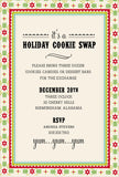 Candy Cane Die-Cut Pocket Personalized Invitations (Set of 50)