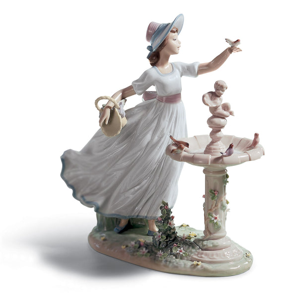 Lladro Spring Joy Girl Figurine - Dalmazio Design