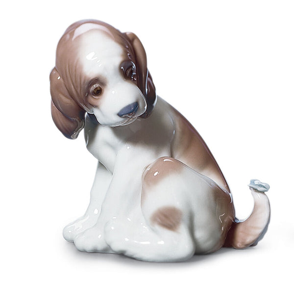 Lladro Gentle Surprise Dog Figurine - Dalmazio Design