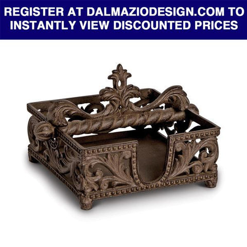 "GG Collection 7""L Acanthus Napkin Holder Dalmazio Design"