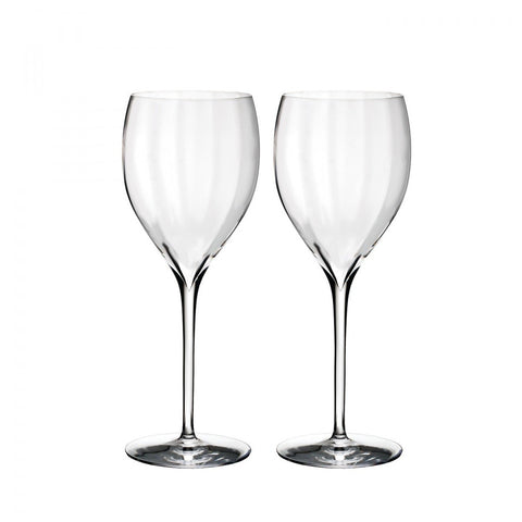 Waterford Elegance Optic Crisp White, Pair Dalmazio Design