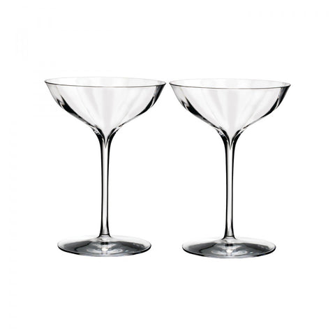 Waterford Elegance Optic Belle Coupe, Pair Dalmazio Design