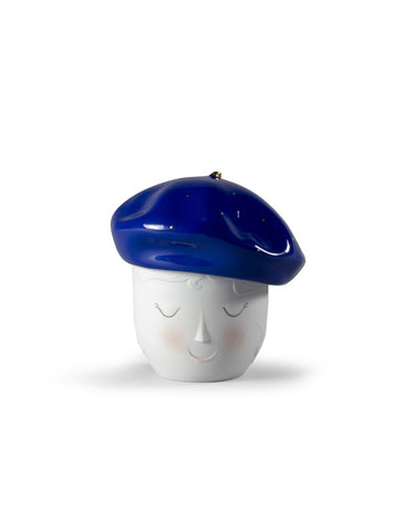 Lane beret box (blue-gold)