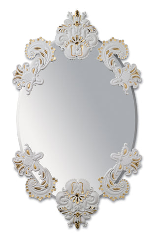 Lladro Oval Wall Mirror without Frame. Golden Lustre. Limited Edition - Dalmazio Design