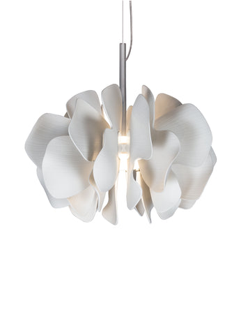 Lladro Nightbloom Hanging Lamp 40cm. White. (US) Dalmazio Design