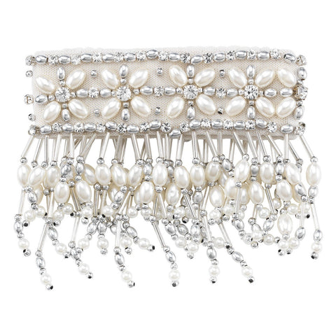 """3"""" Emily Candle Cuff with Silver Beads"" - DISCONTINUED"