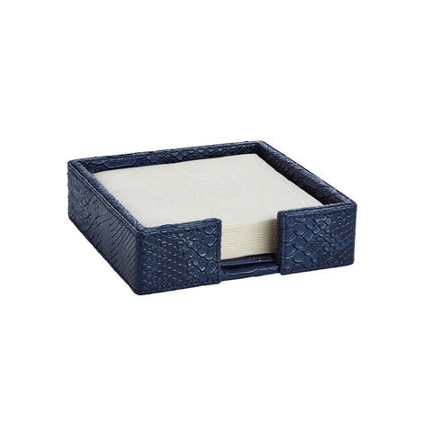 Python Midnight Cocktail Napkin Holder W/ Napkins