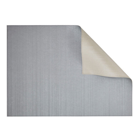 Silk Silver/Ivory Rectangular Placemat-Double sided