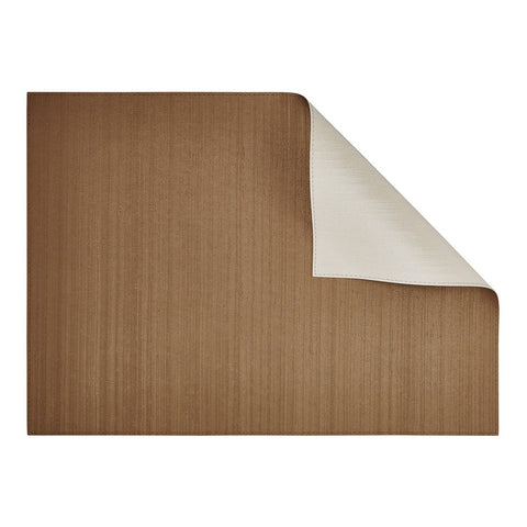 Silk Bronze/Ivory Rectangular Placemat-Double sided
