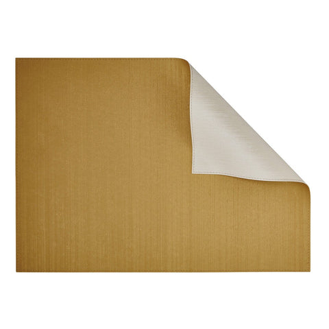 Silk Gold/Ivory Rectangular Placemat-Double sided