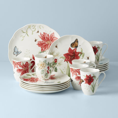 Lenox Butterfly Meadow® 18Pc Holiday Dinnerware Set Dalmazio Design