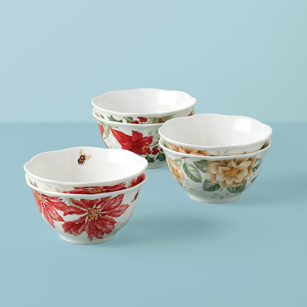 Lenox Butterfly Meadow® 6Pc Holiday Rice Bowl Set Dalmazio Design