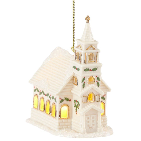 Lenox Christmas Village Church™ Lighted Ornament Dalmazio Design