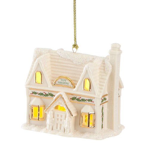 Christmas Village Toy Shoppe Lighted Ornament