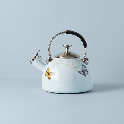Lenox Butterfly Meadow Tea Kettle, Blue - Dalmazio Design