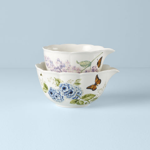 Lenox Butterfly Meadow® 2-Piece Nesting Bowl Set - Dalmazio Design