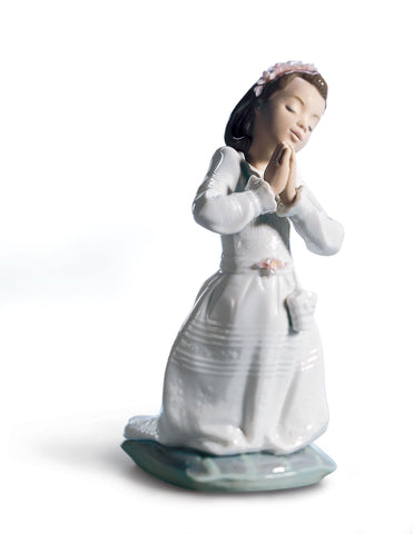 Lladro Communion Prayer Girl Figurine - Dalmazio Design