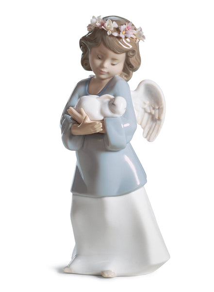 Lladro Heavenly Love Angel Figurine - Dalmazio Design