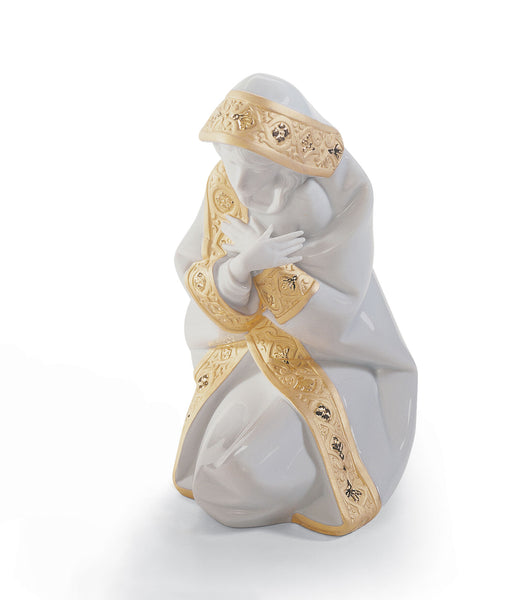 Lladro Mary Nativity Figurine. Golden Lustre - Dalmazio Design