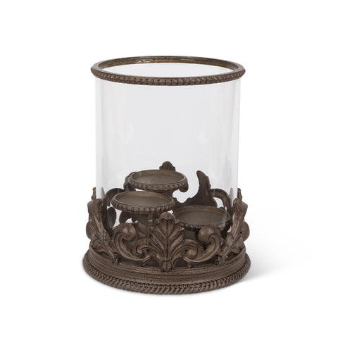 "Acanthus Triple 3"" Candle Holder"
