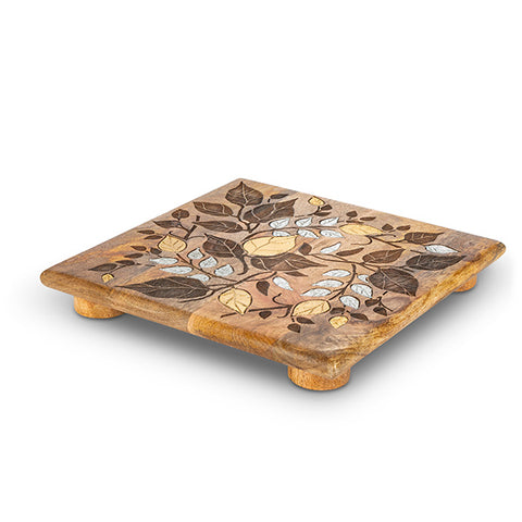 Inlay / Laser leaf Trivet