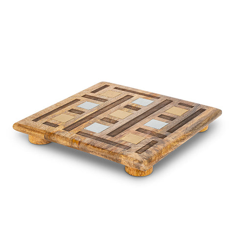 Inlay/Laser Weave Square Trivet