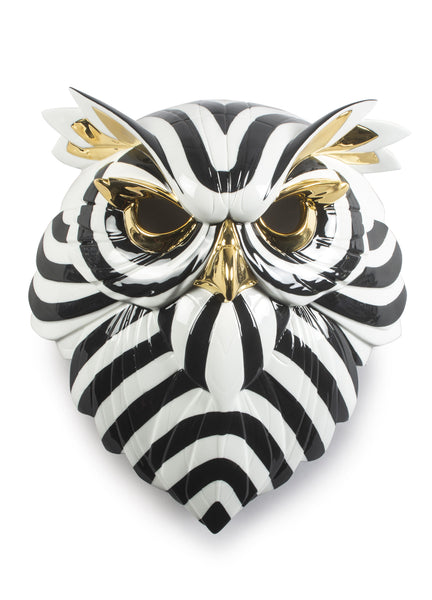 Owl Mask. Black and Gold