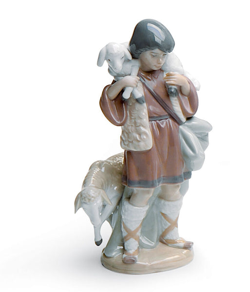 Lladro Shepherd Boy Nativity Figurine - Dalmazio Design