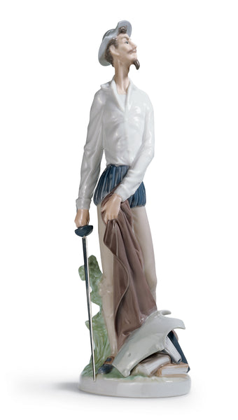 Lladro Don Quixote Standing up Figurine - Dalmazio Design