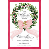 Traditional Wreath Personalized Invitations (Set of 50)