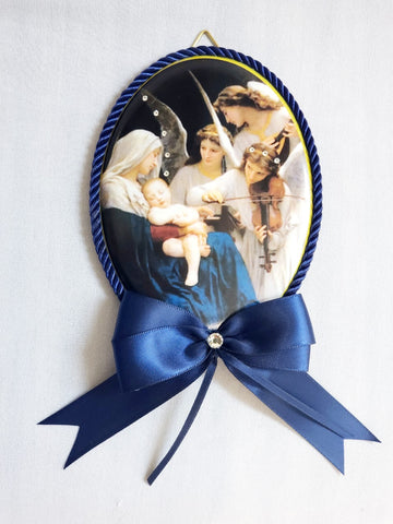 Keepsake Porcelain Plaque - Song of the Angels Blue Capezzale