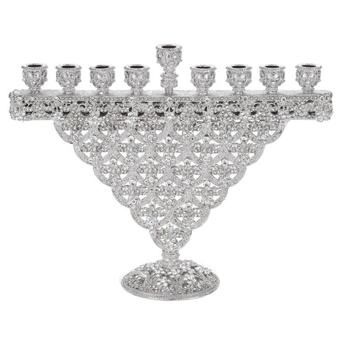 Silver Crystal Sinclair Menorah