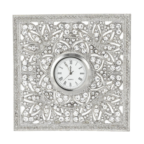 Silver Windsor Desk Clock