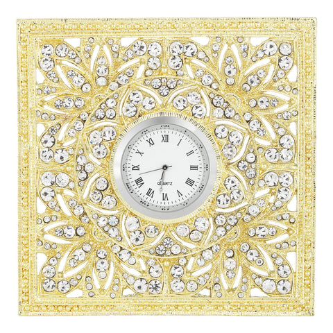 Olivia Riegel Gold Windsor Desk Clock Dalmazio Design