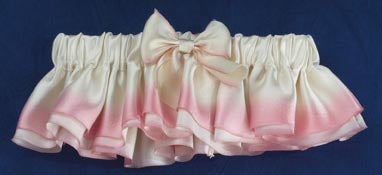 Dalmazio Design Hand-Dyed Blushing Bride Silk Satin Garter Set