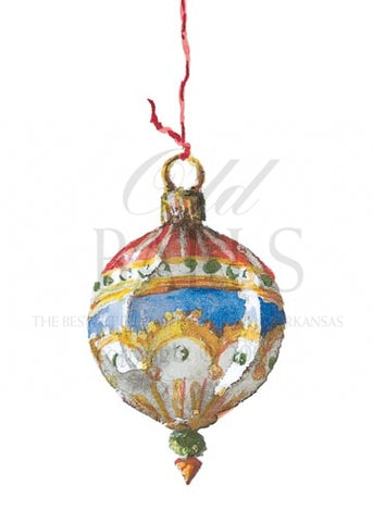 Venetian Glass Ball Personalized Christmas Cards (Set of 50)