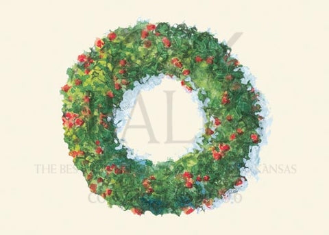 Pyracantha and Box Wood Unprinted Christmas Cards (Set of 100)