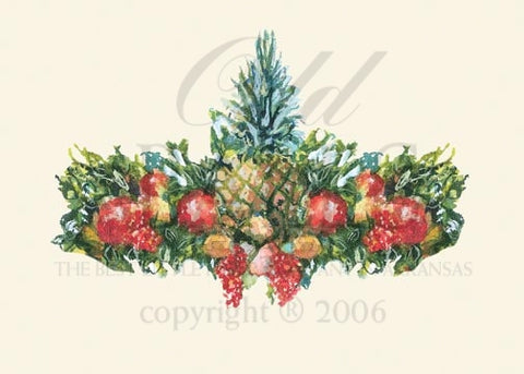 Colonial Garland Personalized Christmas Cards (Set of 50)