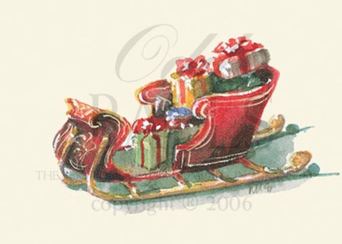 Sleigh Full Unprinted Christmas Cards (Set of 100)