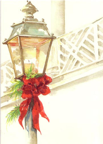 Chippendale Lantern Unprinted Christmas Cards (Set of 100)