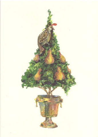 Partridge Unprinted Christmas Cards (Set of 100)
