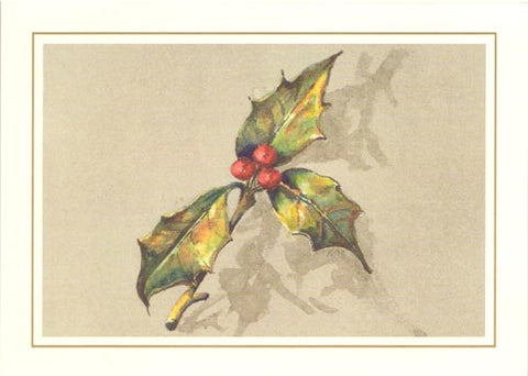 Three Berries Unprinted Christmas Cards (Set of 100)